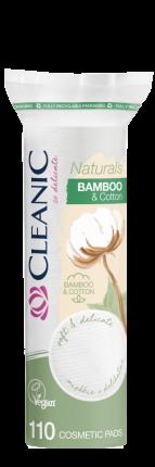 Ватные диски CLEANIC Naturals Cotton&Bamboo п/э с веревочкой 110шт