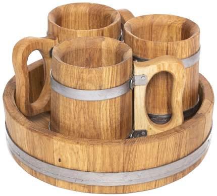 Набор из трех пивных дубовых кружек 0,5 литра