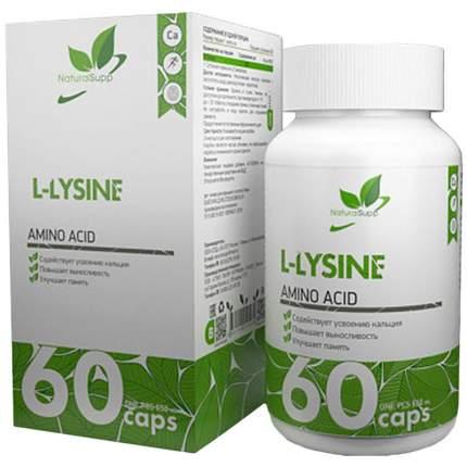 L-Lysine NaturalSupp, 60 капсул