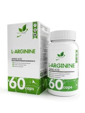 L-Arginine NaturalSupp, 60 капсул