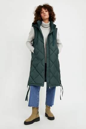 Утепленный жилет женский Finn Flare A20-32059 зеленый 2XL