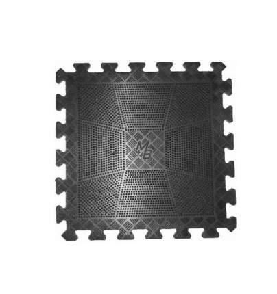 Коврик MB Barbell резиновый черный, толщина 20 мм MB-MatB1-20
