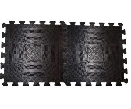 Коврик MB Barbell резиновый черный, толщина 12 мм MB-MatBL-12