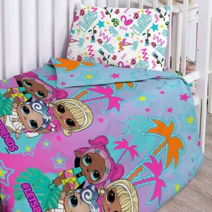 Комплект детского постельного белья Тейковский ХБК из поплина LOL Surprise!