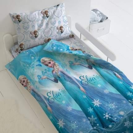 Комплект постельного белья Тейковский ХБК из поплина  Холодное сердце Эльза 1,5-спальное