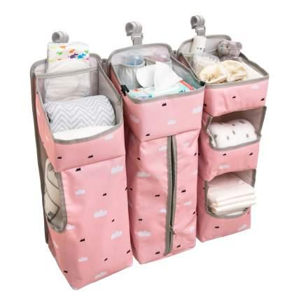 Органайзер карман для детской кроватки Baby nice, розовый