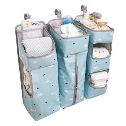 Органайзер карман для детской кроватки Baby nice, голубой