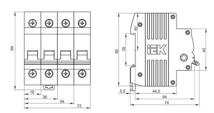 Выключатель нагрузки Iek MNV10-3-032 ВН-32 3Р 32А ИЭК мини-рубильник