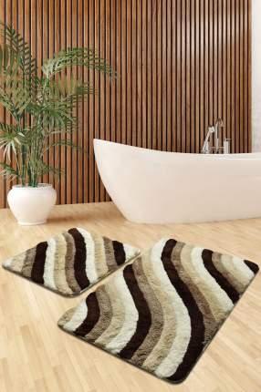 "Набор ковриков для ванной ""DO&CO""; COLORFUL бежевый 60х100, 50х60"