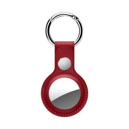 Брелок Deppa для AirTag с кольцом, PU, Red