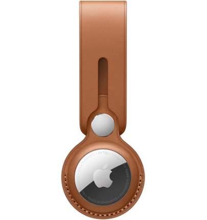 Брелок-подвеска Apple для AirTag Leather Loop Saddle Brown (MX4A2ZM/A)