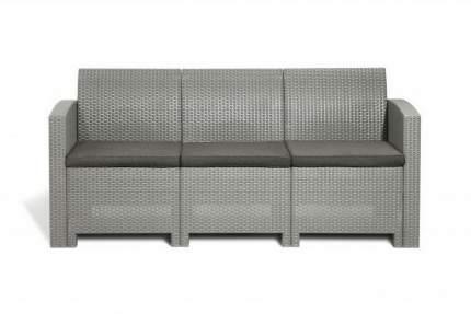 Садовый диван Idea LIFE 3 цвет пластика: светло-серый / подушек: серо-бежевый