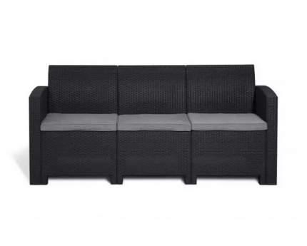 Садовый диван Idea LIFE 3 цвет пластика: темно-серый / подушек: светло-серый