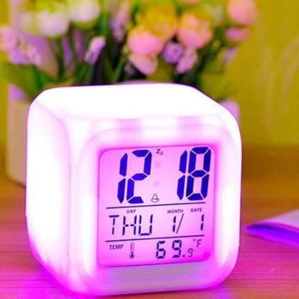 Будильник часы с подсветкой LED Color Change