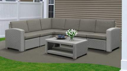 Набор садовой мебели Idea Grand 5 light gray; dark gray 2 предмета