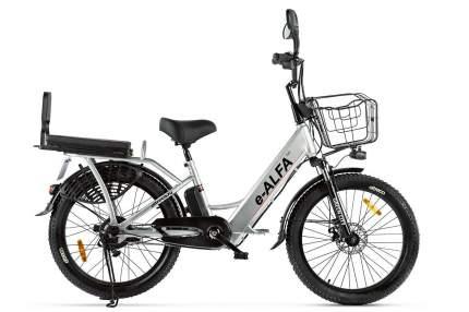 """Электровелосипед Eltreco Green City e-Alfa Fat 2021 19.5"""" серебристый"""