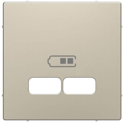Накладка центральная SE Merten D-Life Сахара для USB механизма 2,1А