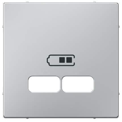 Накладка центральная SE Merten SM Алюминий для USB механизма 2,1А