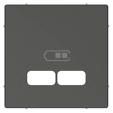 Накладка центральная SE Merten SM Антрацит для USB механизма 2,1А