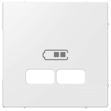 Центральная накладка SE Merten SM Полярно-Бел для USB механизма 2,1А