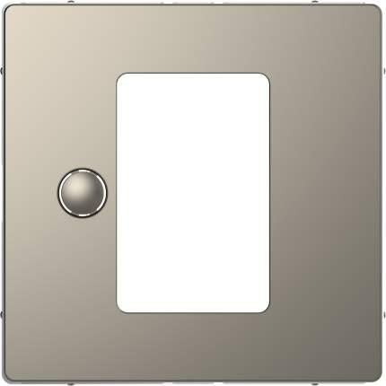 Накладка центральная SE Merten D-Life Никель для сенсорного термостата