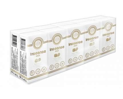 Платочки Inseense Gold бумажные лесные ягоды 10х10 шт