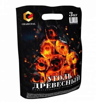 Брикетированный древесный уголь для гриля Charcoal 3 кг