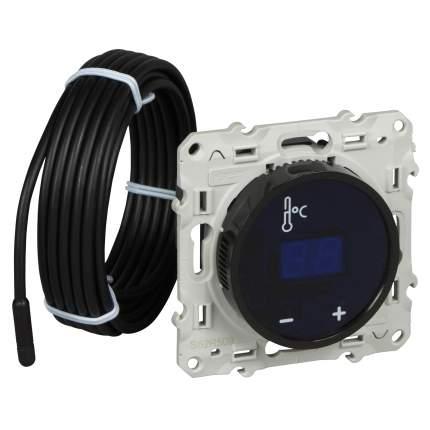 Термостат теплого пола SE Odace Черный с сенсорным дисплеем