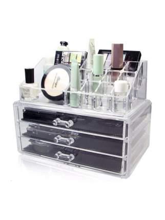Акриловый органайзер для косметики Cosmetic Storage Box (Количество ящичков: 3 )