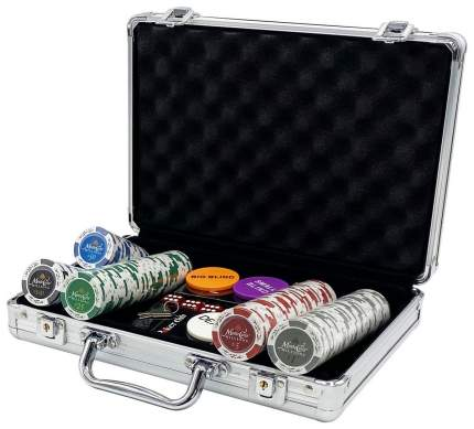 Покерный набор CASH, 200 фишек 14 г с номиналом в чемодане