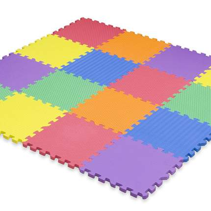 Коврик пазл Funkids NT10 Сенс 12 рельефный, разноцветный