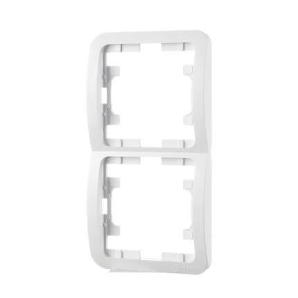 Рамка Makel Mimoza СУ, 2-местная, вертикальная, белый, 22032