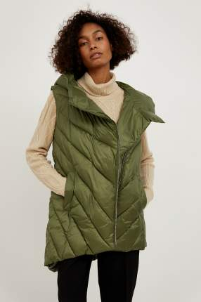 Утепленный жилет женский Finn Flare A20-32072 зеленый XS