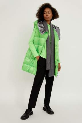 Утепленный жилет женский Finn Flare A20-13000 зеленый L