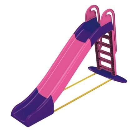 Горка для катания детей Doloni фиолетово-розовая, 240x114 см