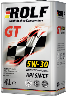 Моторное масло Rolf GT API SN/CF 5W-30 4л