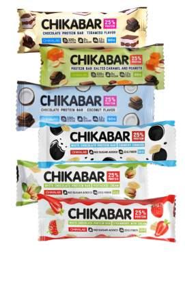 Bombbar CHIKABAR Батончик с начинкой - ассорти всех вкусов, 6шт по 60г
