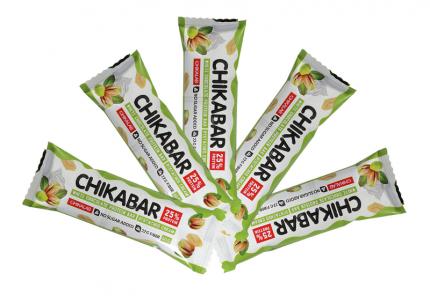 Bombbar CHIKABAR Батончик в белом шоколаде с начинкой, 5шт по 60г (Фисташковый крем)