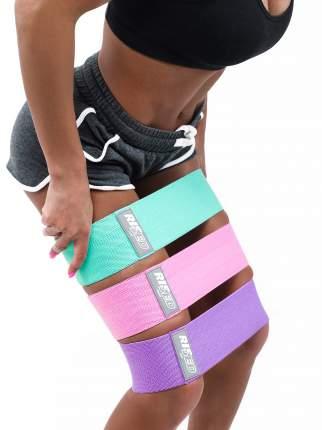 Набор из 3 шт, Тканевые фитнес резинки, фитнес ленты, фитнес резинка + видео тренировка