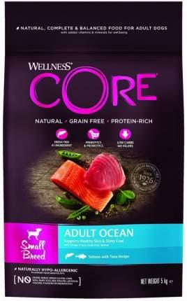 Сухой корм для собак Wellness CORE Small Breed Ocean для мелких пород, тунец, лосось, 5кг