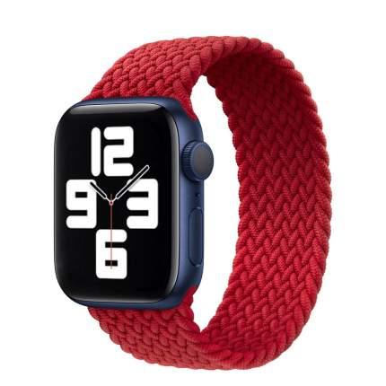 Ремешок QVATRA с рисунком плетение для смарт часов Watch 42 - 44 мм/размер М/Red