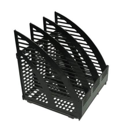 Лоток вертикальный сборный (240х240х290 мм), 3 отделения, черный, 1С55