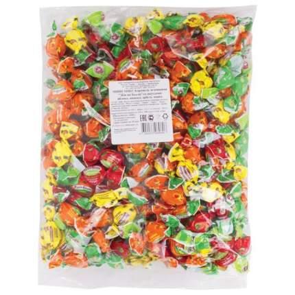 Конфеты-карамель Жили-были, леденцовая, ассорти арбуз/манго/ананас/яблоко,1 кг ПР7008