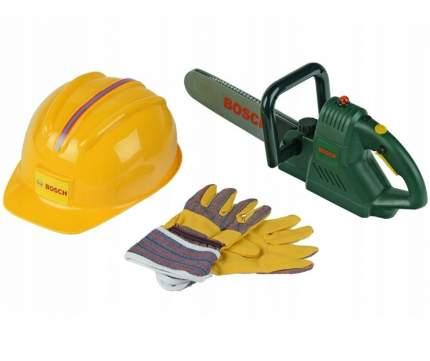 Игровой набор Bosch цепная пила каска и перчатки KLEIN