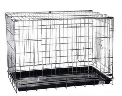 Клетка Kredo хромированная для домашних животных (Д 76 х Ш 46,5 х В 54,5 Хром)