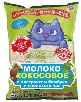 Комкующийся наполнитель для кошек Japan Premium Pet Молоко кокосовое с бамбуком, 6л, 2кг