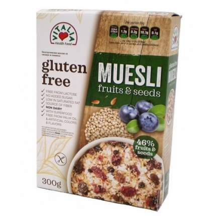 Мюсли семена/фрукты vitalia б/сахара без глютена 1х300 граммов