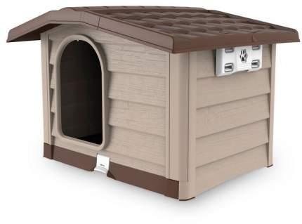 Будка для собак Bama Pet Bungalow бежевая, M: 89 х 75 х 62 см
