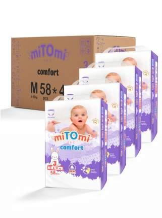 Подгузники-трусики miTOmi Comfort M (6-10 кг), 4x58 шт.