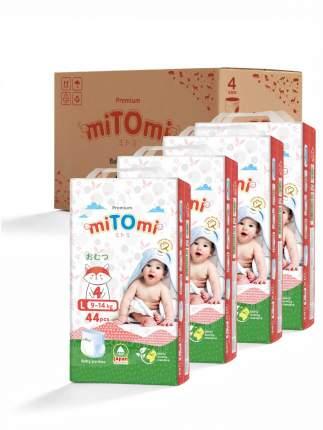 Подгузники-трусики miTOmi Premium L (9-14 кг), 4x44 шт.
